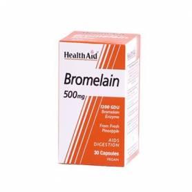 BROMELINA 500mg 30cap HEALTH AID Plantas Medicinales 14,48€