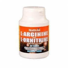 L-ARGININA 600mg L-ORNITINA 300mg 60cap HEALTH AID L Arginina 23,41€