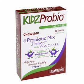 KIDZPROBIO MASTICABLE 30comp HEALTH AID Suplementos nutricionales 15,32€