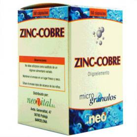 MICROGRANULOS ZINC COBRE 50cap NEO Suplementos nutricionales 15,52€