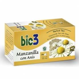 BIO3 MANZANILLA CON ANIS Infusiones 25ud BIO3 Plantas Medicinales 2,30€