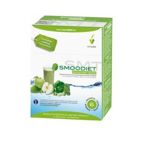 SMOODIET VERDE BATIDO 6sb NOVADIET Suplementos nutricionales 19,95€